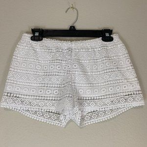 Divided by H&M Boho White Lace Shorts
